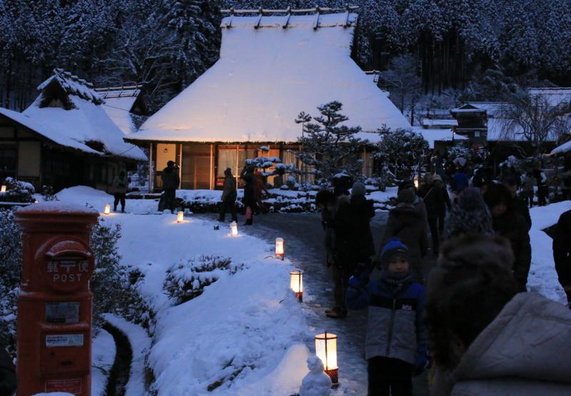 京都新聞写真コンテスト 雪塘路祭り