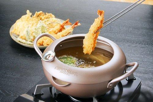 油ハネがしにくい揚げ物鍋