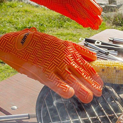 油のハネ火傷を防げる耐熱手袋