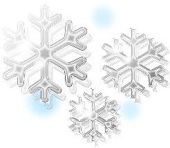 無料イラスト:雪の結晶