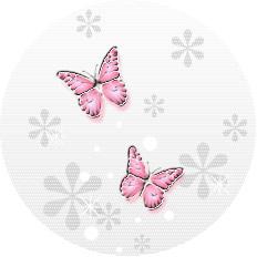 透明感のあるイラストー蝶(ピンク)
