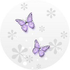 透明感のあるイラストー蝶(パープル)