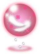透明感のあるイラストー羽(ピンク)