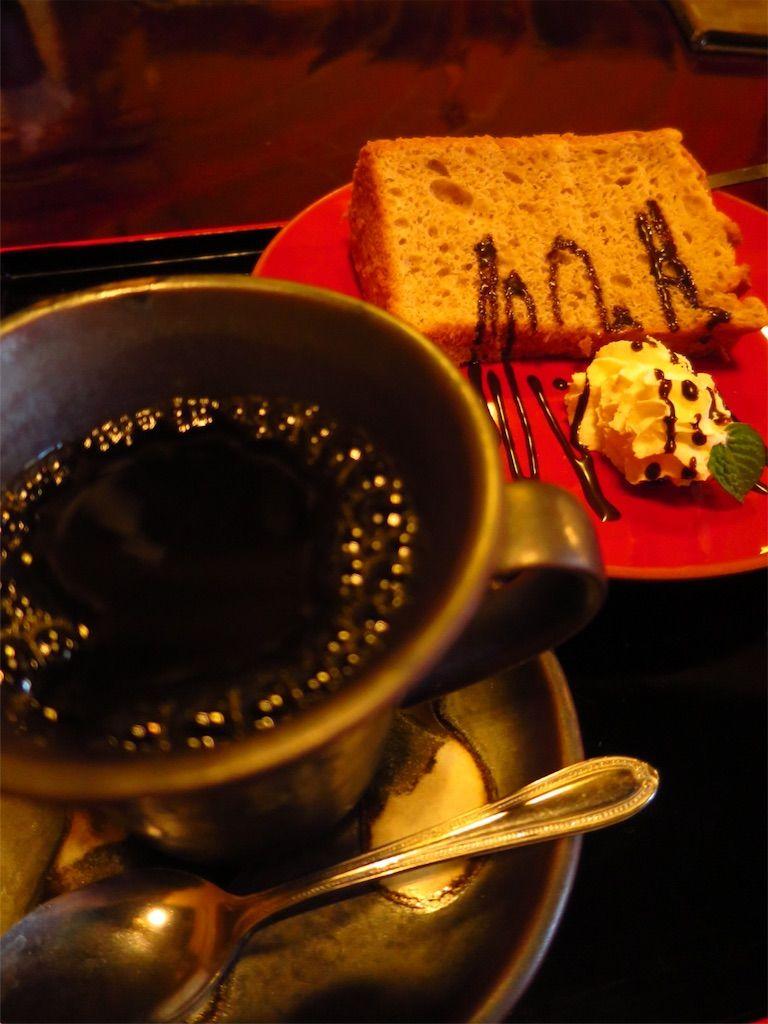 太宰府 古民家カフェ なみ満のそば粉シフォンケーキ