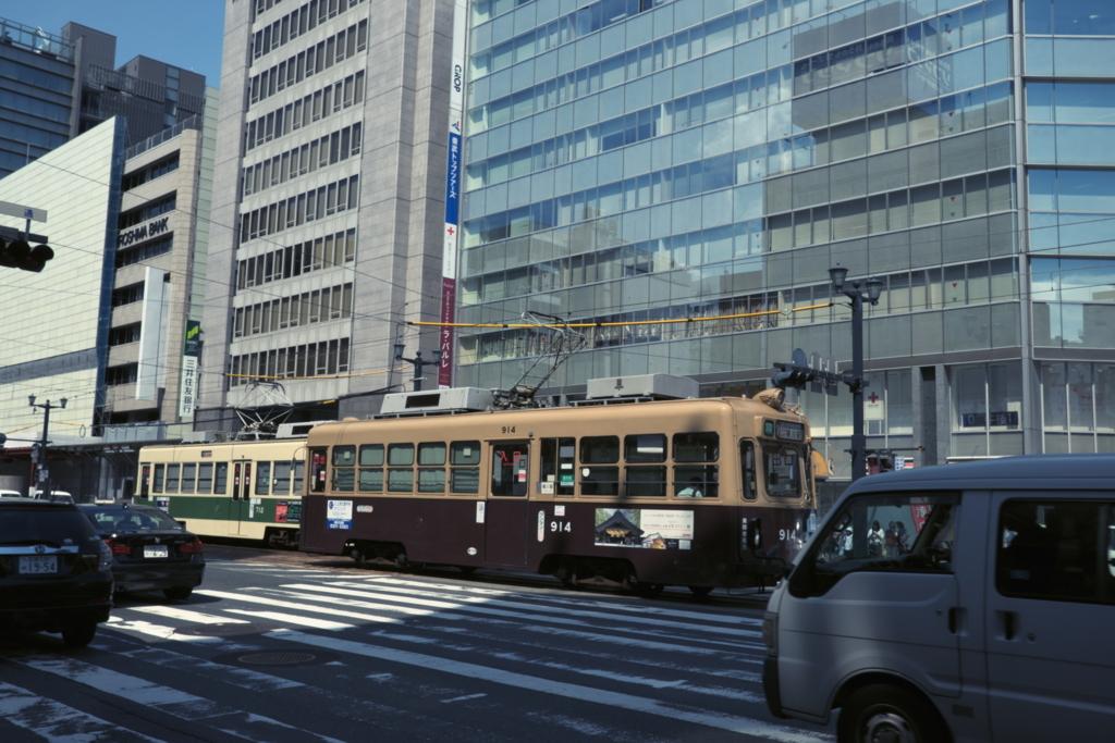 広島市内を走る広島鉄道の路面電車