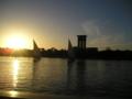 [アスワン]ナイル川の日没