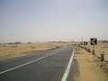 [アブシンベル]砂漠道路