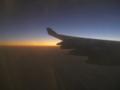 カイロ上空の夕暮れ