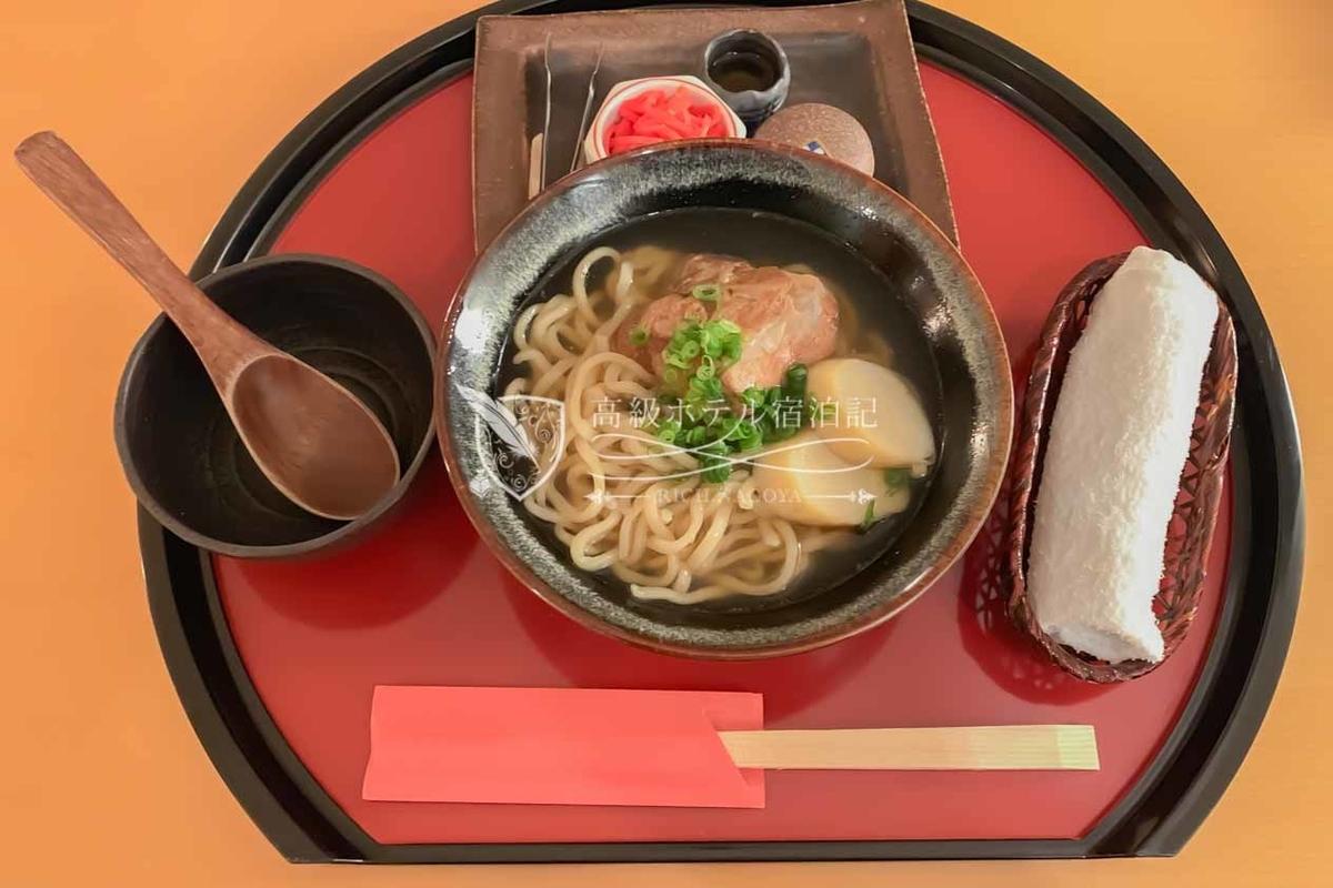 Hyakuna Garan:Okinawa Soba in Room Dining 800JPY