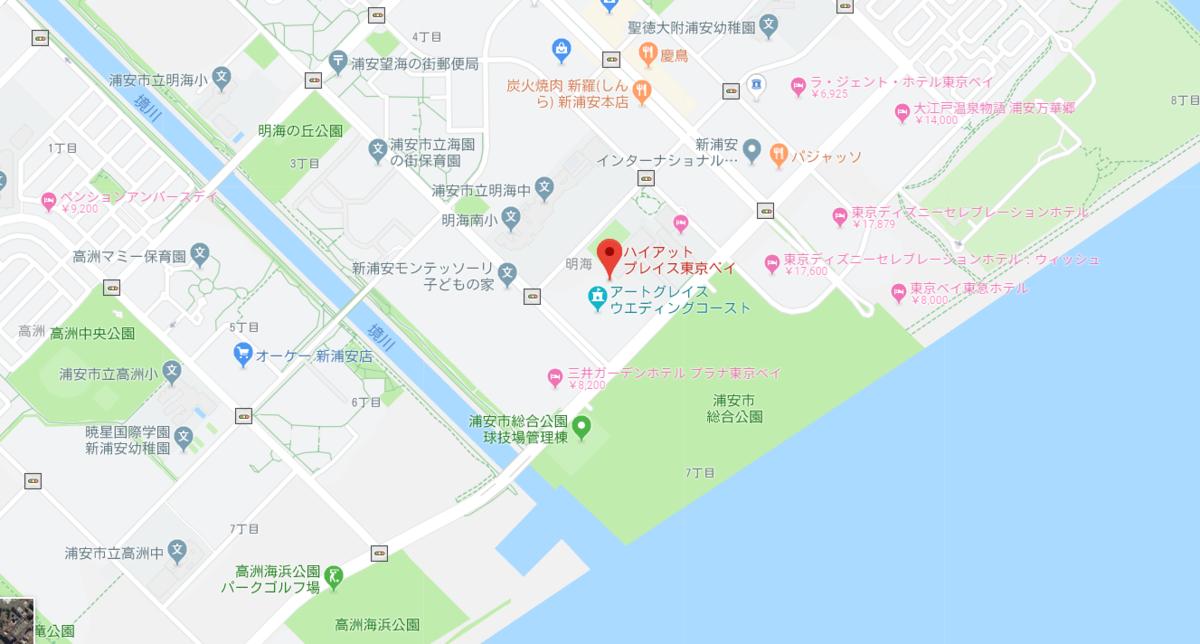 Hyatt Place Tokyo Bay:Map