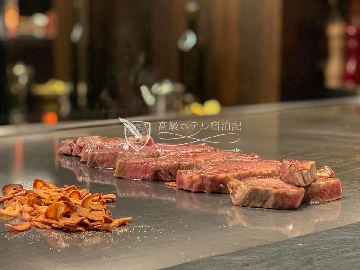 ハイアットプレイ東京ベイ:鉄板焼 富貴亭:料理(ディナー)