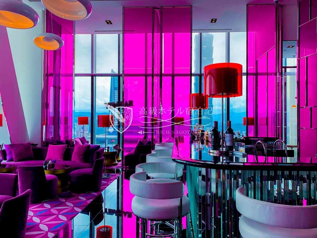 最上フロアには台北101の眺めを楽しめるオシャレ空間「YEN BAR(紫艷酒吧)」 アフタヌーンティーセットも人気