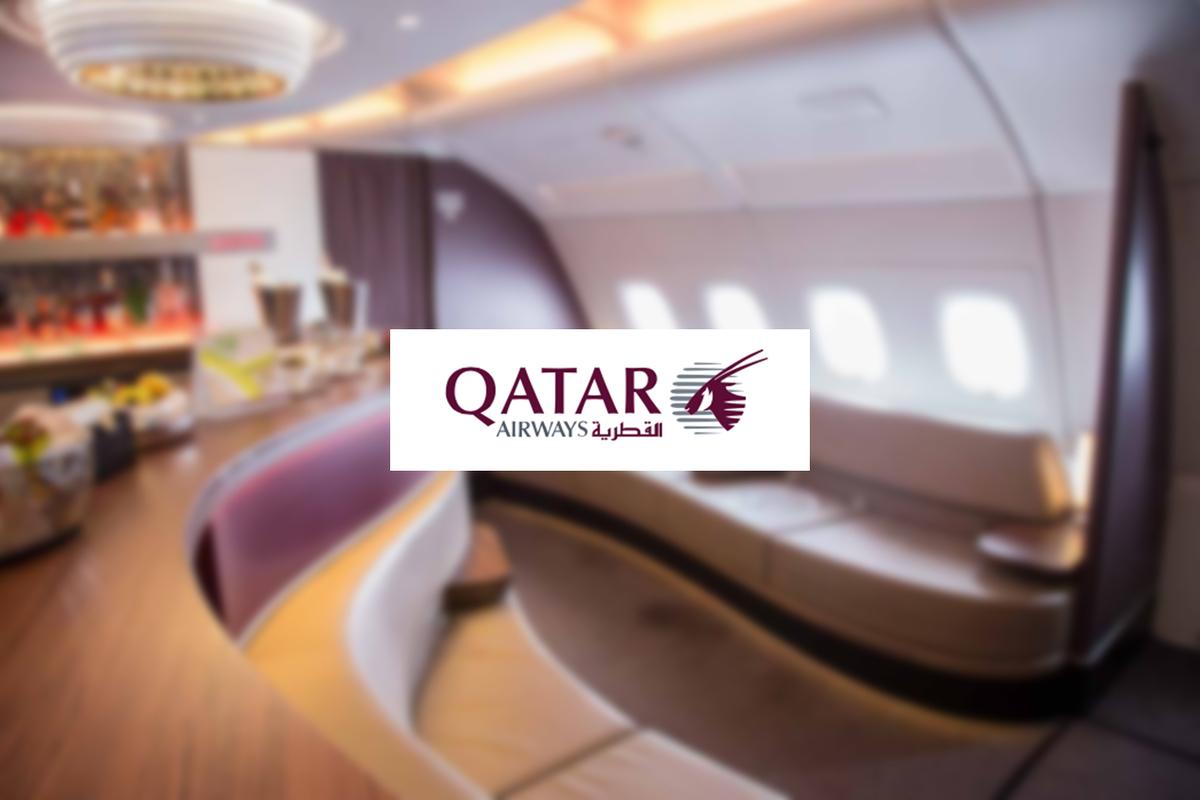 カタール航空:エアバスA380-800 機内ラウンジ