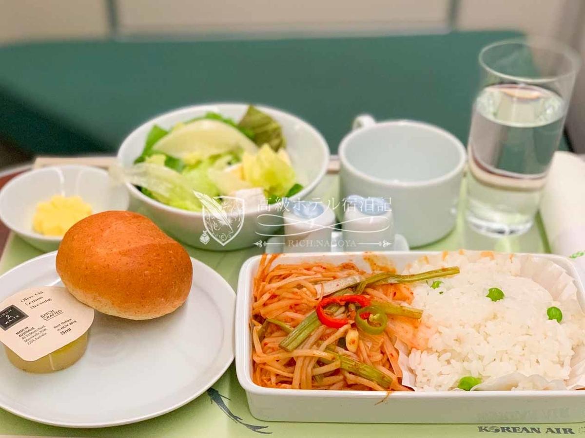 大韓航空ソウル・仁川→名古屋ビジネスクラス(プレステージクラス)機内食