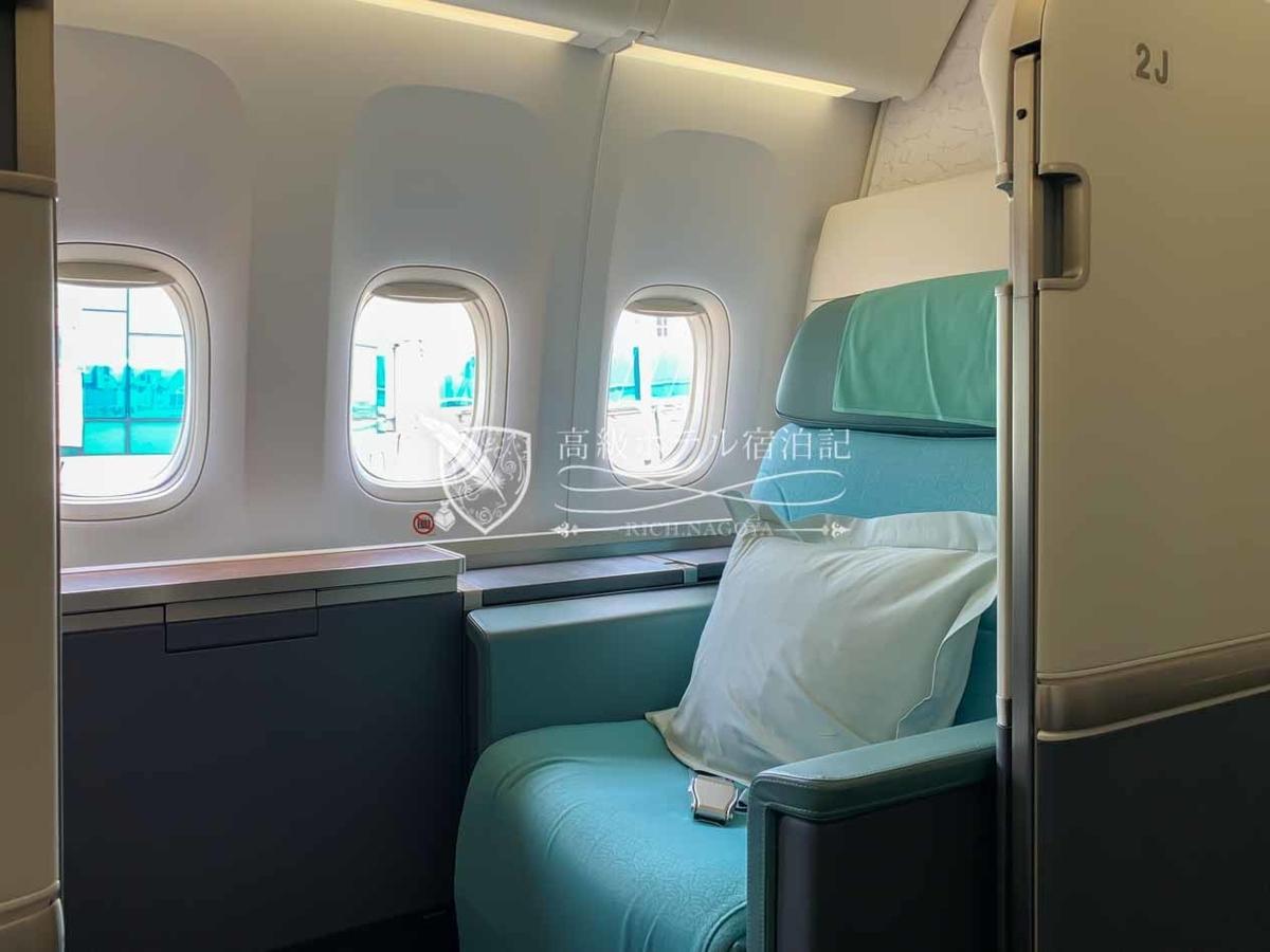 大韓航空B777-300ERファーストクラス