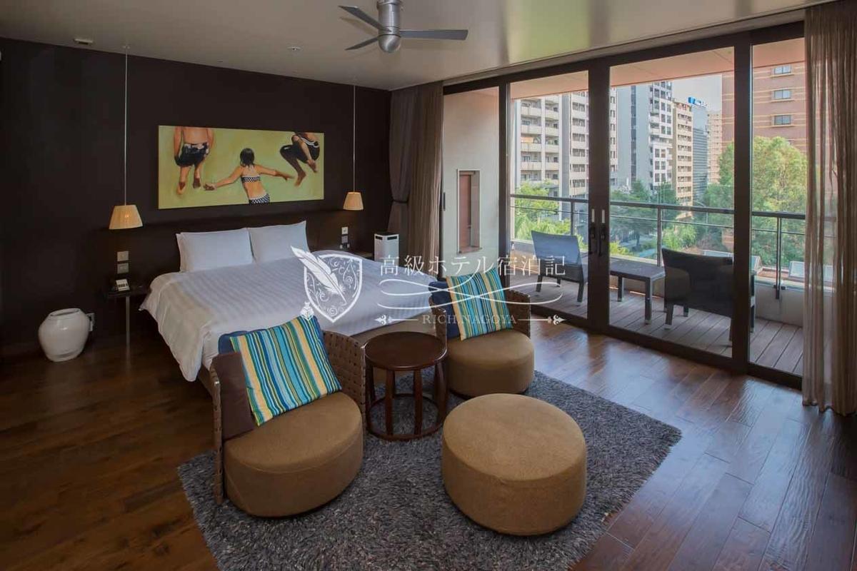 ダブルスイート(61.0㎡):最上階の客室のテラスはプライベートタイプ。