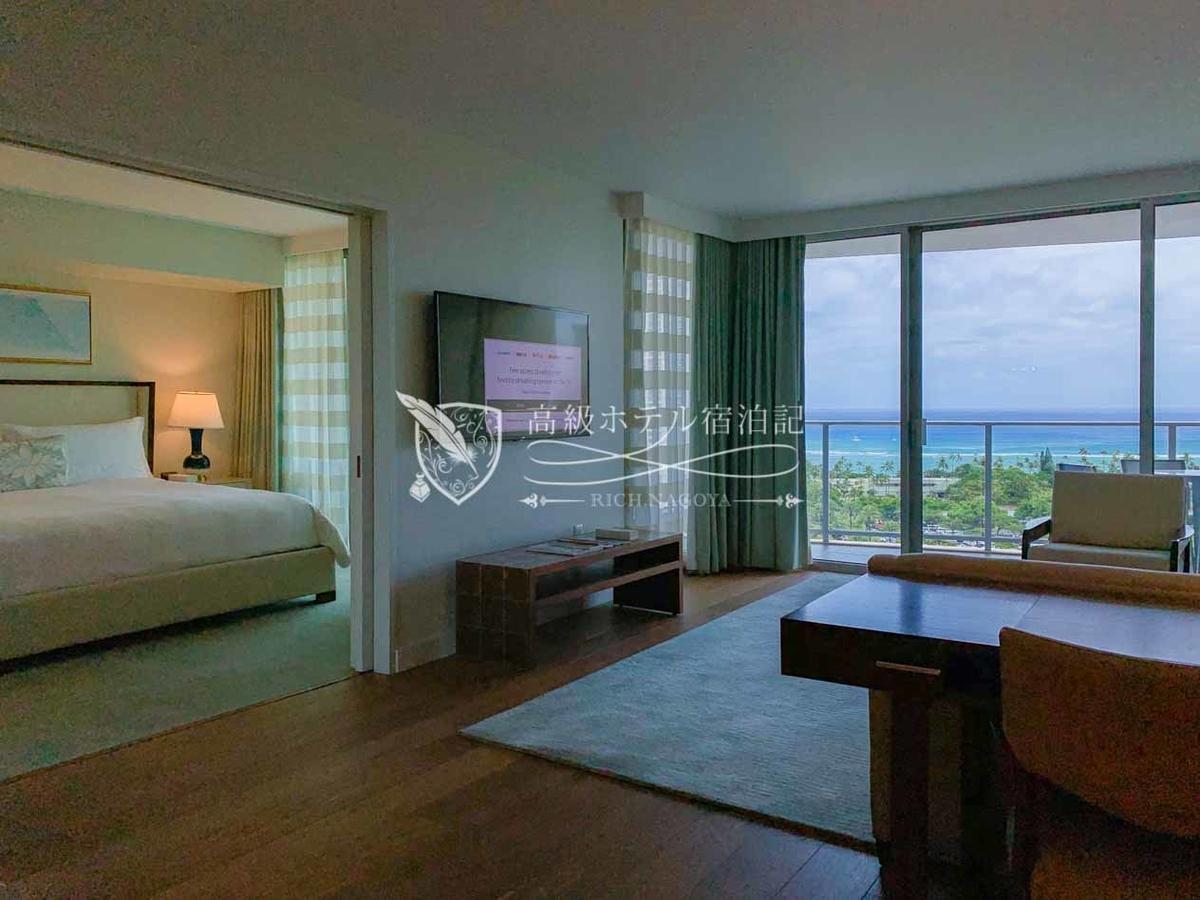 客室数はエヴァタワー307室、ダイヤモンドヘッドタワー245室、合計552室。内、半数近くを占める246室がスイートルーム。