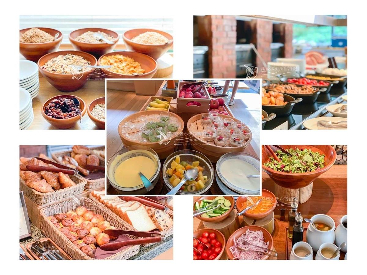 アラカルト料理が充実しているためかビュッフェの品数は少なめだが、パン、サラダ、チーズ、オートミール、シリアル、フルーツなどウェスタン料理の定番はしっかり用意されている。中でもシナモンの効いたオートミールが美味しかった!