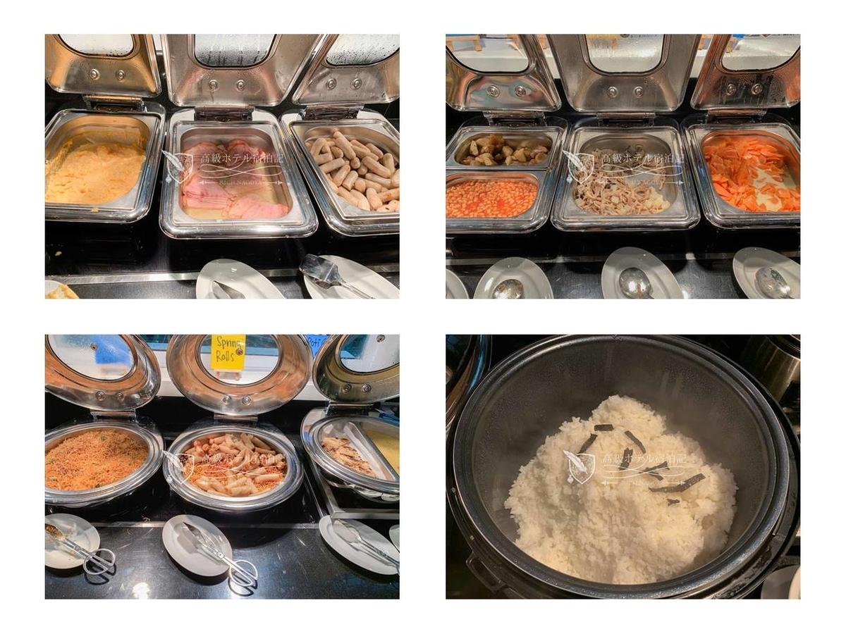 ザ・ギャラリー・キッチンの朝食(会員は無料)。