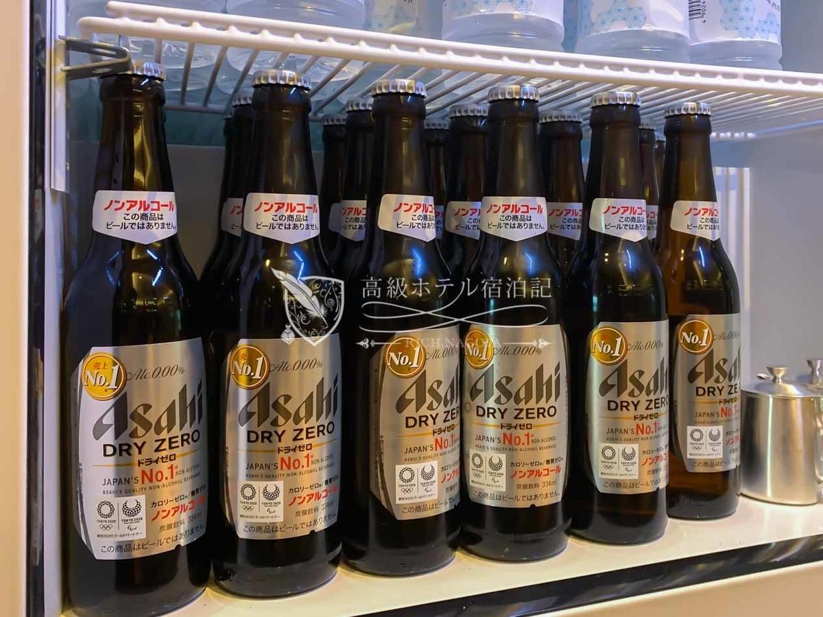 クラブラウンジ営業中はいつでも飲めるアサヒビール