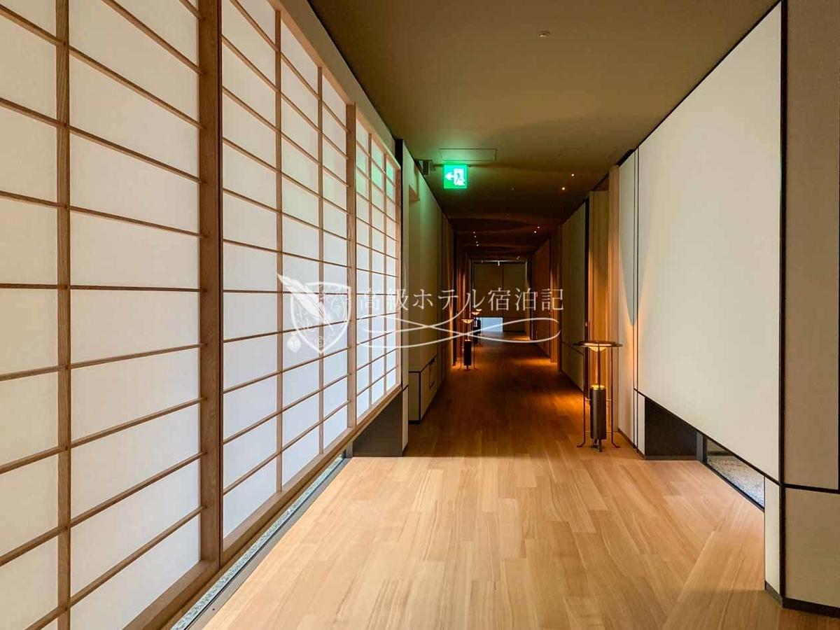 パークハイアット京都 Park Hyatt Kyoto:ゲストフロアの廊下(5階)