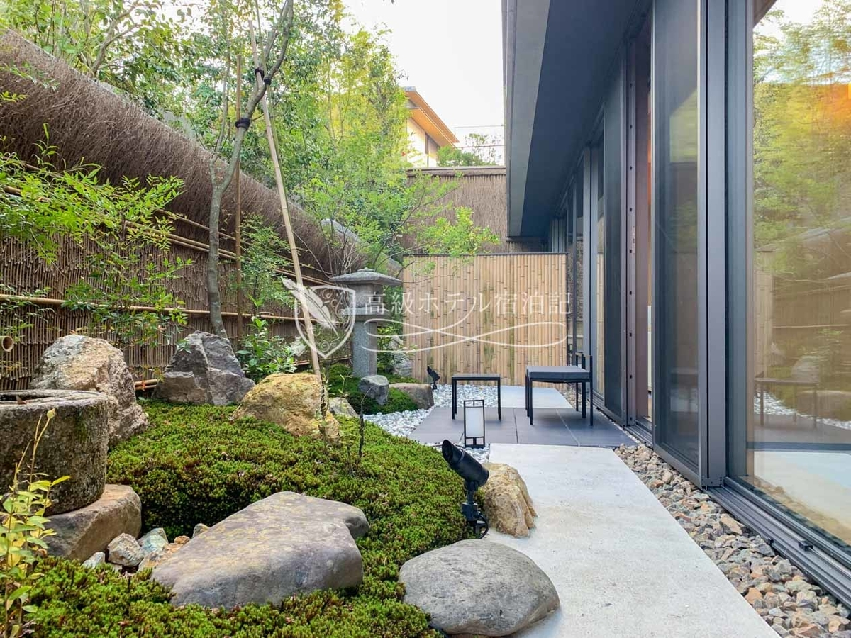 パークハイアット京都 Park Hyatt Kyoto:パークスイートのプライベート日本庭園