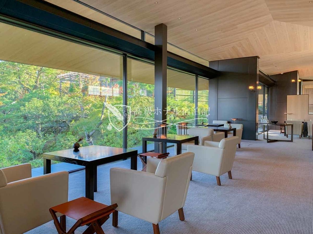 パークハイアット京都 Park Hyatt Kyoto:宿泊客専用ティーラウンジ
