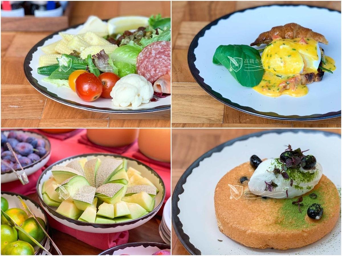 「タヴァン」での朝食ビュッフェは都内トップクラスの美味しさ。新鮮な野菜とフルーツをたっぷりと使ったマイサラダがお気に入り。オーダーメニューは小豆の入ったパンケーキがおすすめ。
