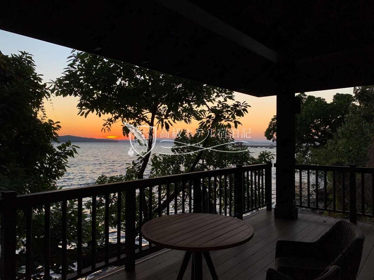 毎朝綺麗なサンライズが見えたので自然と早起きになりました。ちなみに料金は「サンライズ ヴィラ」よりも「サンセット ヴィラ」の方が高い。