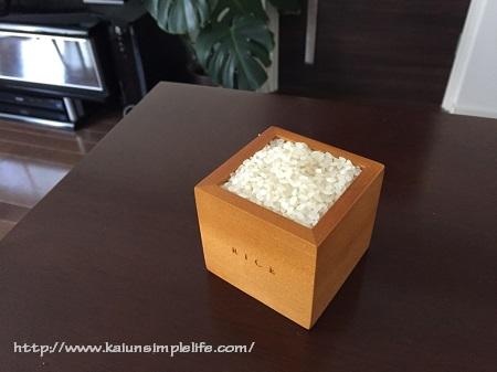 おしゃれ過ぎる木製のお米専用計量カップ
