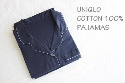 コットン100%。ユニクロのパジャマ