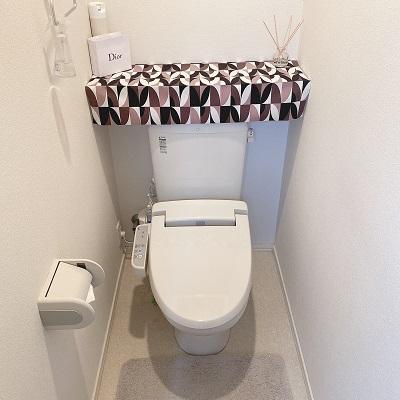 簡単にニトリグッズでトイレタンクを隠す方法