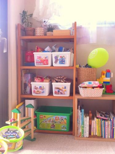 ミニマリスト おもちゃ コーナー 収納 家具 ボックス スッキリ