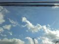 2014年12月21日の空(雲の形が消えかけ)