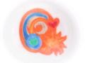 マグカップにお絵描き体験。(太陽と月、地球)