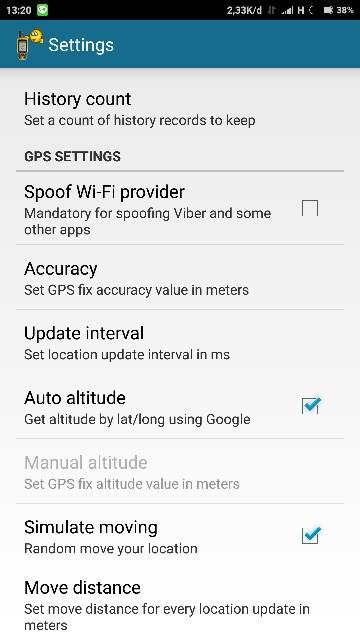Setting Fake GPS