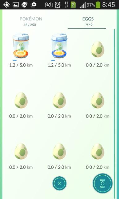 koleksi telur pokemon go