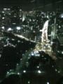 東京タワー展望台より。眼下にもタワーが?!