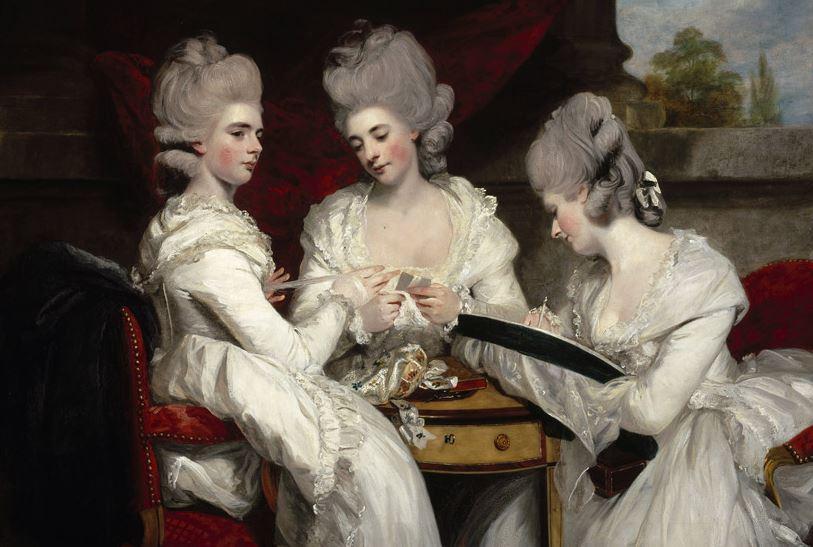 3人の貴婦人が描かれた絵画