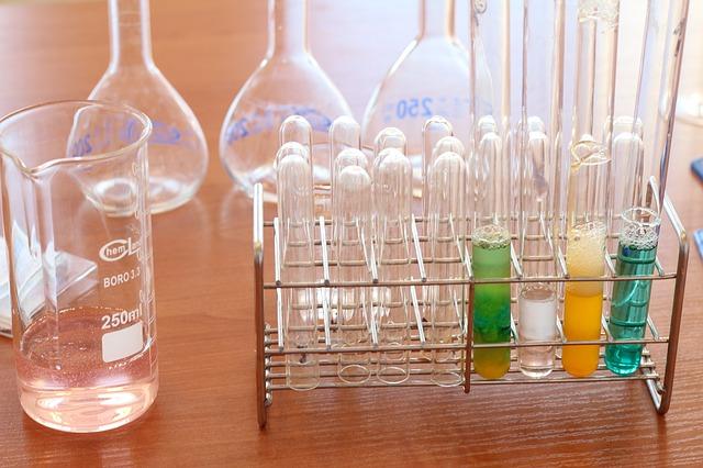 化学のガラス器具