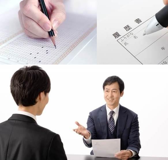 2枚の紙と手と鉛筆とスーツ姿の二人の男性