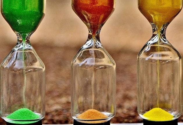 3つの砂時計