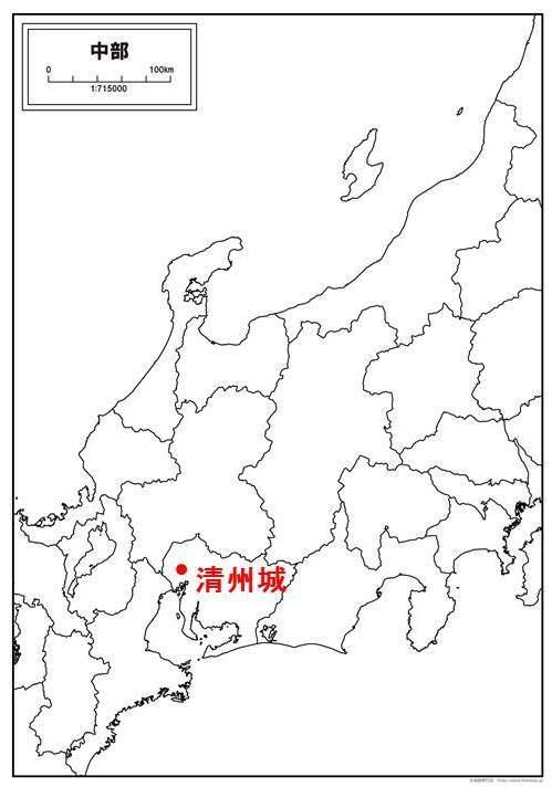 清州城の位置を示す地図