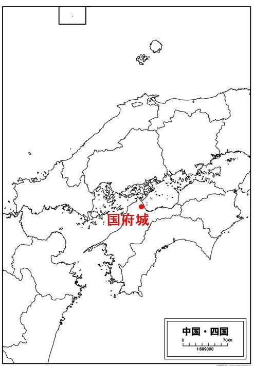 国府城の位置を示す地図