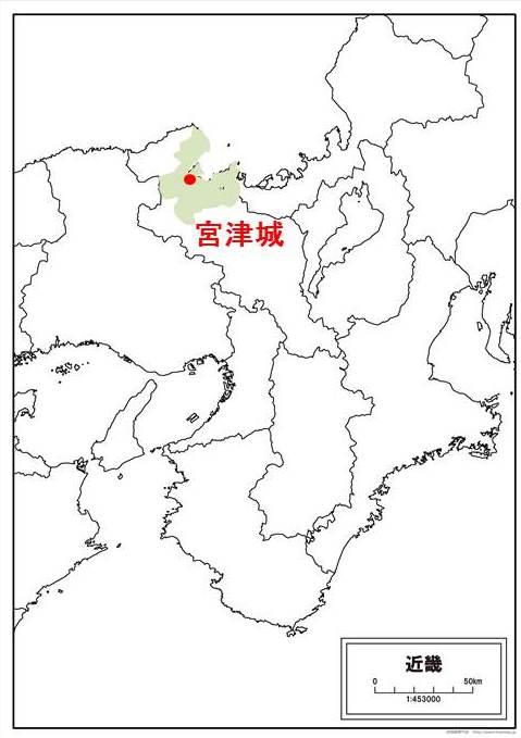 細川忠興の領地をしめすイラスト