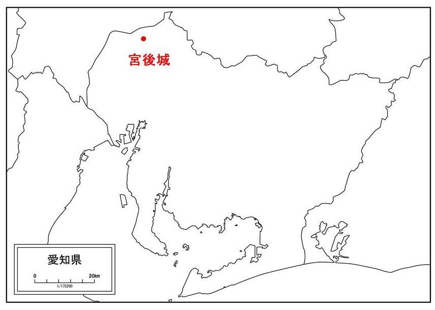蜂須賀家政が誕生した場所を示す図