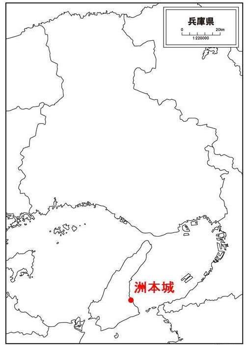 脇坂安治が豊臣秀吉に与えられた城の位置を示す図