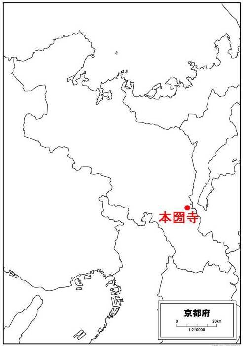 本圀寺の位置を示す図