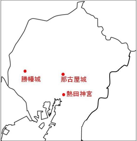 熱田神宮の位置を示す図