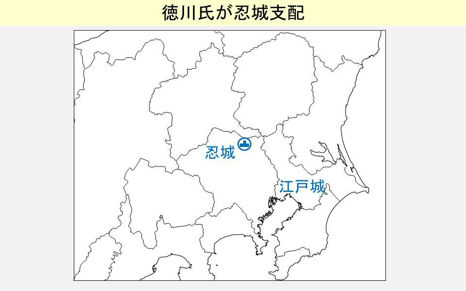 徳川氏支配時代の忍城の城主を示す図